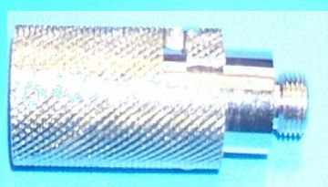 "QUICK RELEASE SILVER 3/8"" DELUXE SHORT SHANK CB TAXI twist & turn KNURLED GRIP"